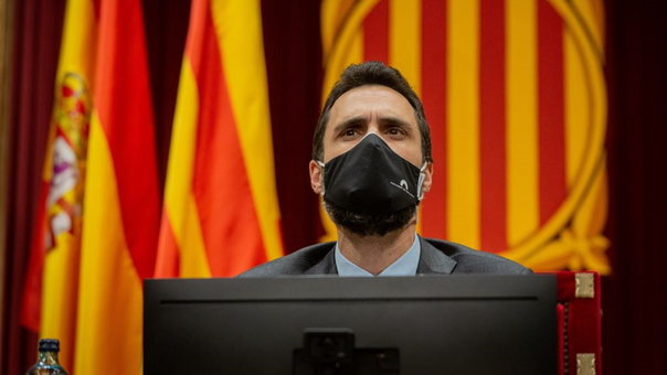 O presidente do Parlamento de Catalunya, Roger Torrent. (Foto: Europa Press)