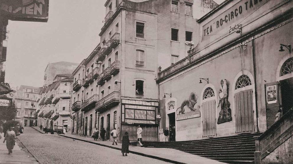 O Teatro Circo Tamberlick, onde se estreou a ópera 'O Mariscal'. (Foto: L. Roisin) #omaruscal #vigo #teatro #circo #tamberlick