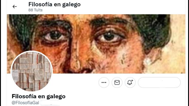"""A conta de Twitter """"Filosofía en galego"""" (Nós Diario)"""