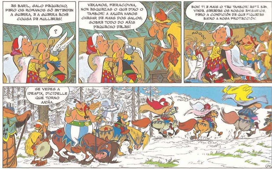 Un fragmento de 'Astérix e o Grifón'.