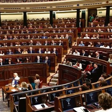 Vista do hemiciclo do Congreso na última votación de investidura en xullo 2019 (Europa Press)