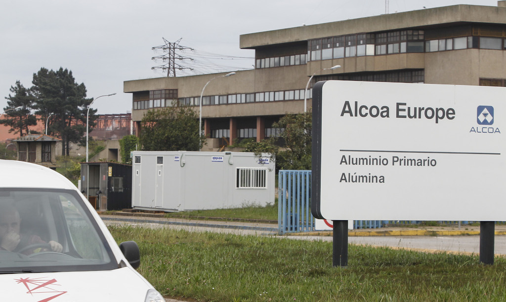 Instalacións de Alcoa en San Cibrao (Foto: Nós Diario).