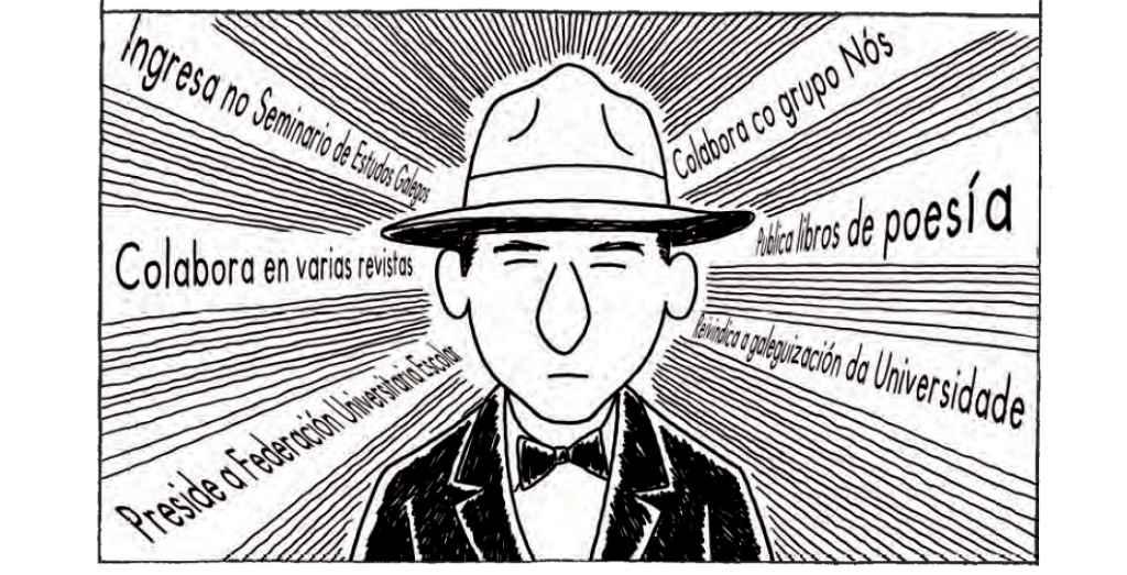 Ilustración da banda deseñada de Pepe Carreiro.