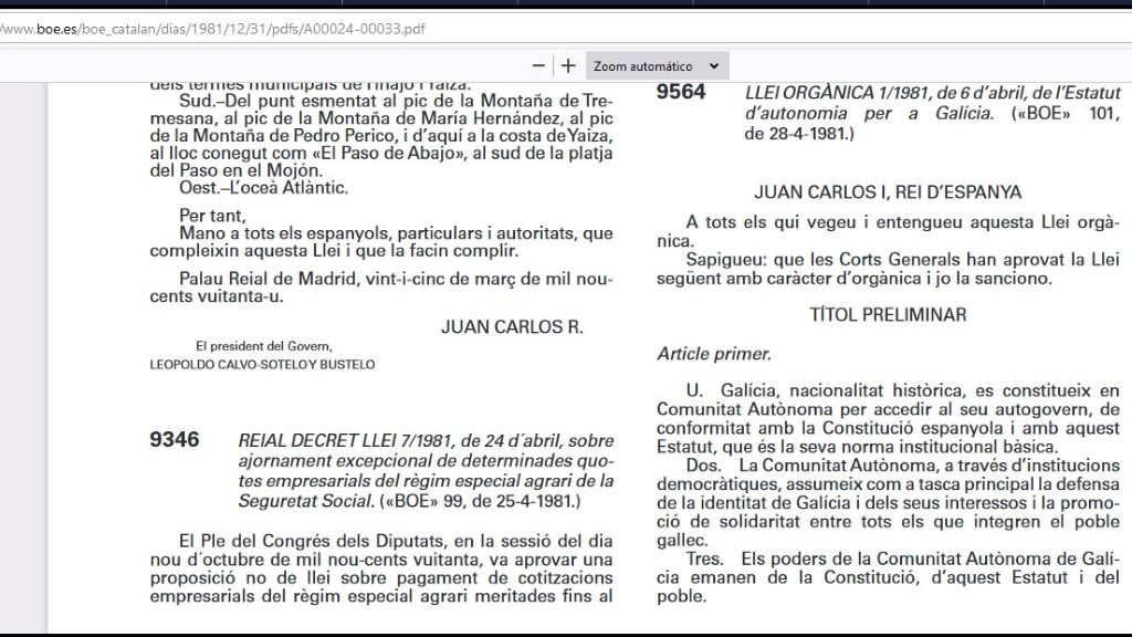 O documento está dispoñíbel en catalán pero non en galego. (Foto: Nós Diario)
